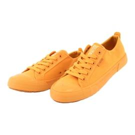 Trampki wiązane żółte Big Star FF274A086 3