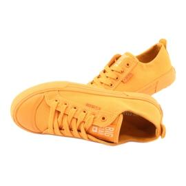 Trampki wiązane żółte Big Star FF274A086 5