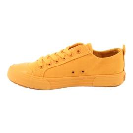 Trampki wiązane żółte Big Star FF274A086 2