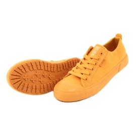 Trampki wiązane żółte Big Star FF274A086 4