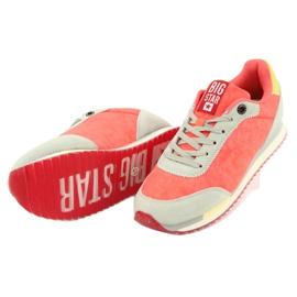Buty sportowe orange BIG STAR FF 274873 pomarańczowe szare żółte 4