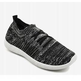 Szare męskie obuwie sportowe LW-1801 1
