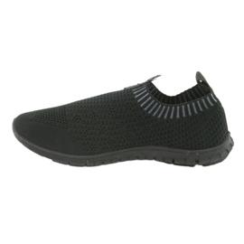 Buty sportowe wsuwane czarne Mckey DTN842 szare 2