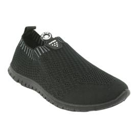 Buty sportowe wsuwane czarne Mckey DTN842 szare 1