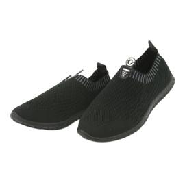 Buty sportowe wsuwane czarne Mckey DTN842 szare 3