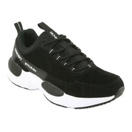 Buty sportowe zamszowe McKey MSP1464 czarne 1