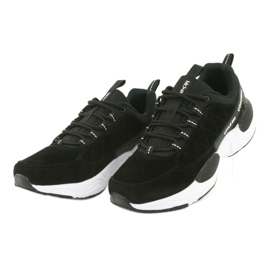 Buty sportowe zamszowe McKey MSP1464 czarne 3