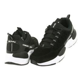 Buty sportowe zamszowe McKey MSP1464 czarne 4