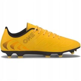 Buty piłkarskie Puma One 20.4 Fg Ag 105831 01 żółte 2