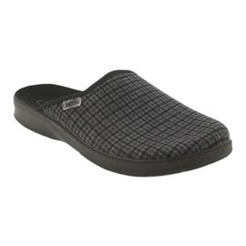 Befado obuwie męskie pu 548M012 czarne szare 2