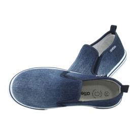 Trampki wsuwane ATLETICO BAM060 jeans granatowe 5