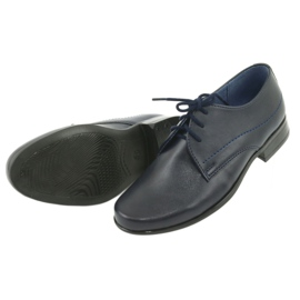 Gregors Pantofle do komunii granatowe 5