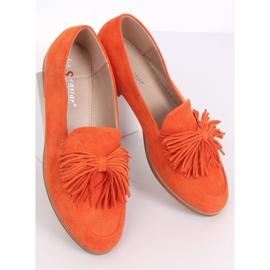 Mokasyny damskie z frędzlami pomarańczowe T357P Orange 5