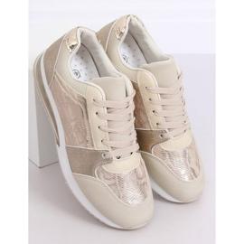 Buty sportowe damskie złote BL206 Gold złoty 1