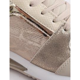 Buty sportowe damskie złote BL206 Gold złoty 3