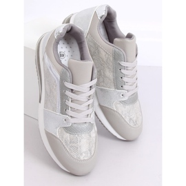 Buty sportowe damskie srebrne BL206 Silver szare 1