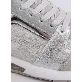 Buty sportowe damskie srebrne BL206 Silver szare 2