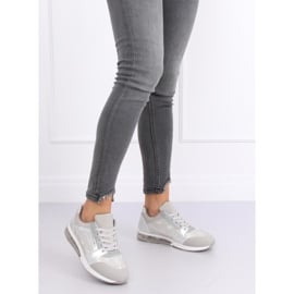 Buty sportowe damskie srebrne BL206 Silver szare 4