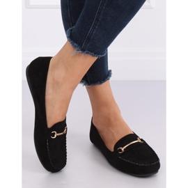 Mokasyny damskie czarne 99-01A Black 1