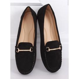 Mokasyny damskie czarne 99-01A Black 3