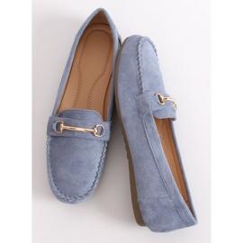 Mokasyny damskie niebieskie 99-01A Blue 3
