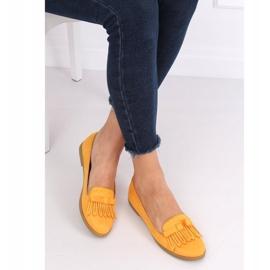 Lordsy damskie miodowe 2358 Yellow żółte 1