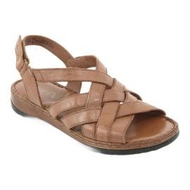 Caprice sandały buty damskie skórzane brązowe 2