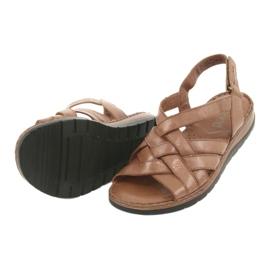 Caprice sandały buty damskie skórzane brązowe 6