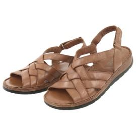 Caprice sandały buty damskie skórzane brązowe 4