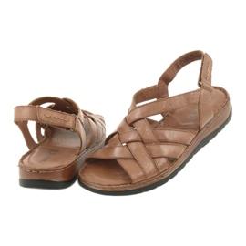 Caprice sandały buty damskie skórzane brązowe 5