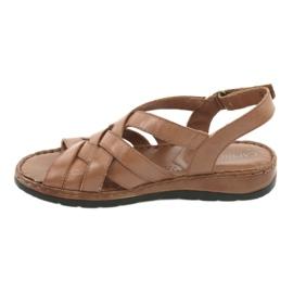 Caprice sandały buty damskie skórzane brązowe 3