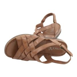 Caprice sandały buty damskie skórzane brązowe 7