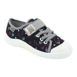 Befado obuwie dziecięce 251Q142 czarne szare 2