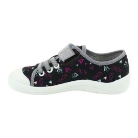 Befado obuwie dziecięce 251Q142 czarne szare 3