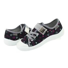 Befado obuwie dziecięce 251Q142 czarne szare 5