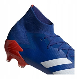 Buty piłkarskie adidas Predator 20.1 Fg M EG1600 niebieskie wielokolorowe 2
