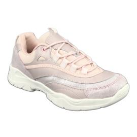 Sportowe buty damskie Filippo 1411 różowe srebrny 1