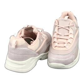 Sportowe buty damskie Filippo 1411 różowe srebrny 4