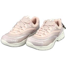 Sportowe buty damskie Filippo 1411 różowe srebrny 3