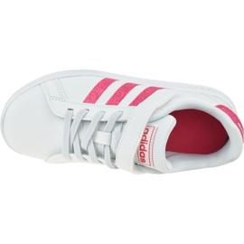 Buty adidas Grand Court K Jr EG3811 białe 2