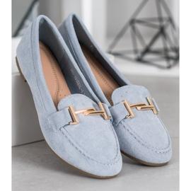 Bestelle Eleganckie Błękitne Mokasyny niebieskie 2