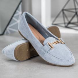 Bestelle Eleganckie Błękitne Mokasyny niebieskie 3