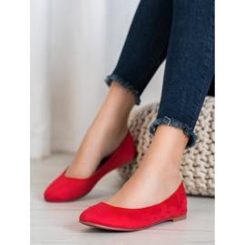 Best Shoes Zamszowe Baleriny czerwone 1