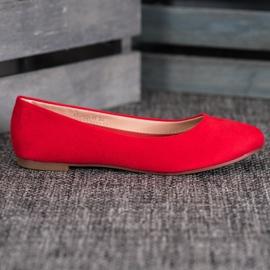 Best Shoes Zamszowe Baleriny czerwone 5