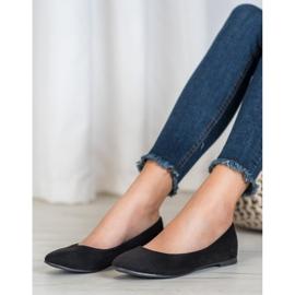 Best Shoes Zamszowe Baleriny czarne 2