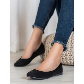 Best Shoes Zamszowe Baleriny czarne 1