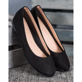 Best Shoes Zamszowe Baleriny czarne 3