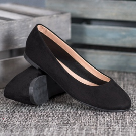 Best Shoes Zamszowe Baleriny czarne 4