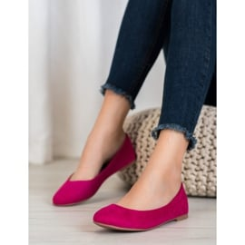 Best Shoes Zamszowe Baleriny fioletowe 1