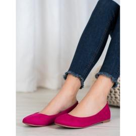Best Shoes Zamszowe Baleriny fioletowe 2